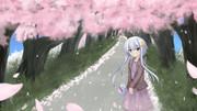 私服弥生とお花見デート