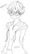 線画 @suke_himaさんの下絵お借りしました。