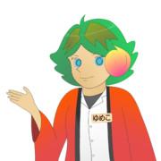 JR8DAGのAM & QRP ホームページのイメージキャラクターのゆめこ(法被)