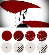 斬られた和傘