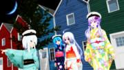 【MMD艦これ】美人提督揃いの夏祭り【響日・結月日・天子提督・星の守護者】