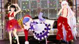 【東方MMD】水着成美とドレミーと裸サスペンダーな妹紅