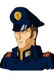地球連邦軍(ティターンズ)巡洋艦アレキサンドリア艦長ガディ・キンゼー少佐