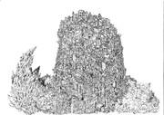 細密画 廃墟の塔