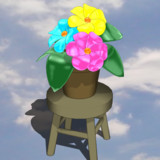 【MMD-OMF8】鉢植え