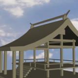 【MMD-OMF8】神社の拝殿っぽい何か