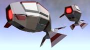 【MMD-OMF8】R-ネシウム(Gダライアス小型敵機)【モデル配布】