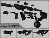 【MMD-OMF8】GLOCK+PDW