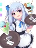 チョコミントアイスパフェ!