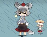 悪天候に晒されるmiji