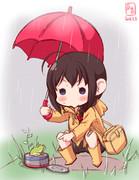 わんどろ傘しぐれ