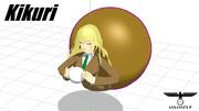 【MMD-OMF8】Kikuri(東方靈異伝)【MMDモデル配布】