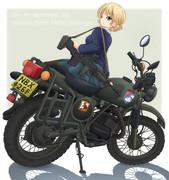 ダー様と英国軍用バイク