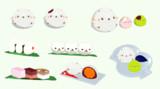 【MMD】エナガ豆大福と和菓子とネコおにぎり【アクセサリ配布】