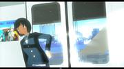 [とらはぜ式もぶ]橋を渡る帰宅の電車...