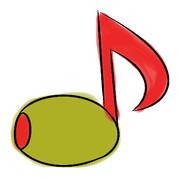 音符のオリーブ
