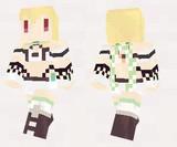 【minecraft】クチナシ(花騎士) スキン(サンプル)