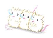 寝るネズミ達
