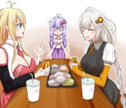 よく食べる二人と