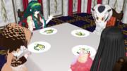 夕食:アミューズ:シロツメクサとスィートポテト