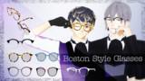 【MMD】ボストン眼鏡【アクセサリ配布】