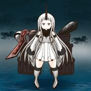 デストロイモードに変身する港湾棲姫