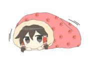 ミノムシのように布団にくるまるmaru姉貴