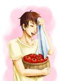 トマトとったで~
