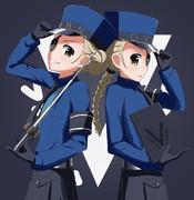 カロリーヌちゃんとジュスティーヌちゃん