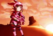 荒野のデザートピンク