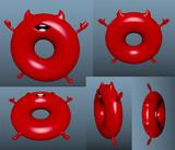 例の浮き輪@3D