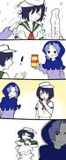 あら~雪ふっ…小麦粉っ!!