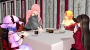 夕食:デセール:チョコケーキ