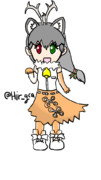 カラカル服のトナカイさん(お絵描き練習)
