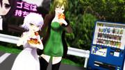 【Fate/MMD】ワンピースのお嬢さんとおかあさん、たこ焼き売り場にて