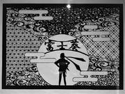 【切り絵】富士葵