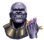 指輪キャンディをはめてめっちゃ機嫌が良いサノス