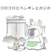 ペンギンとカジカの掃除