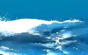 波と海の背景イラスト素材