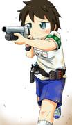 【オリジナル】体操服で緊急出動する武装JCちゃん