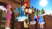 平和の群像・紅魔館門前にて
