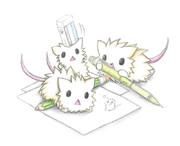 お絵描きするネズミ