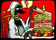 切り絵「サンドウィッチの串」オリキャラ アナログ