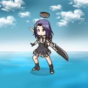 薙刀をかっこよく振り回す龍田さん