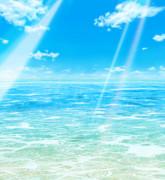 夏っぽい空と海