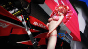 【MMD】水着な重音テトとバイク