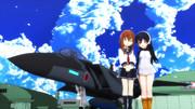 【MMDクロスオーバー】電ちゃんとジェーンとF15