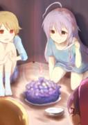 机下の誕生パーティ