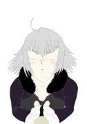 【FGO】キス顔の練習で新宿のジャンヌ・オルタ描いてみた