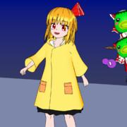 【Blender】雨合羽ルーミア